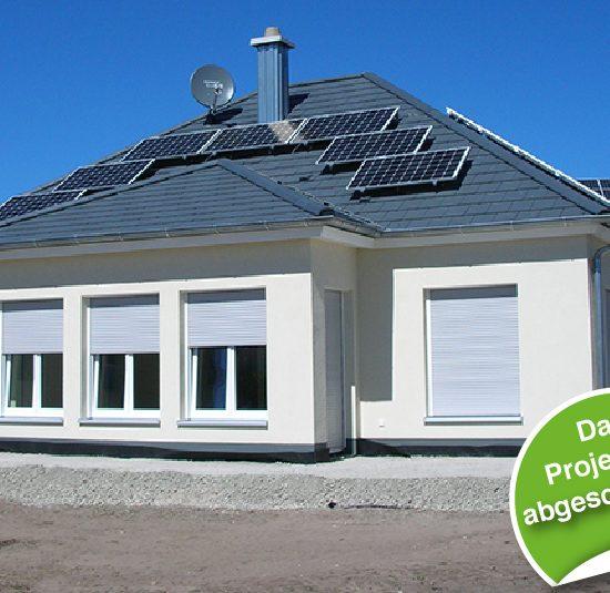 Fertighaus Bungalow Stadt Wohnen Haus bauen Holzhaus