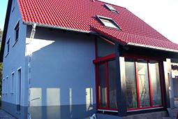 Bauchronik Ausbauhaus WORK & LIFE – Fertighaus in Holzbauweise Wandelement Zimmerei Ansbach