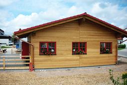 Gewerbeobjekt Biergarten Xandys Alm Zimmerei Mohr Leutershausen in Muhr am See