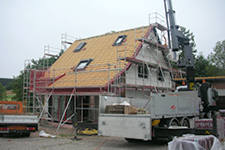Bauchronik Einfamilienhaus WORK & LIFE –Vorfertigung Einfamilienhaus Holzhaus Fertighaus
