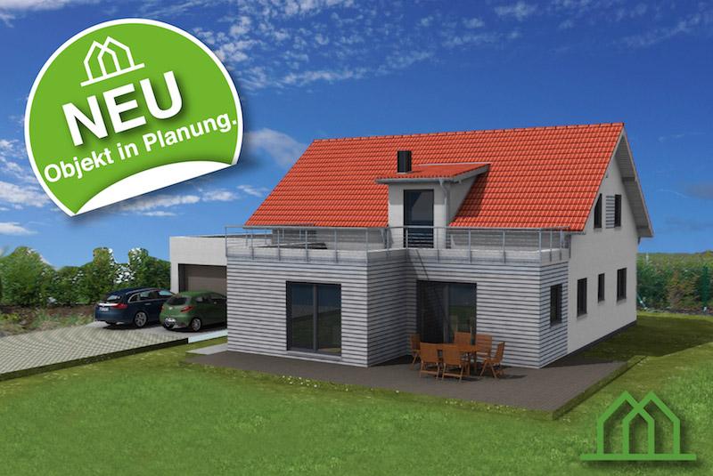 Neubau Holzhaus mit Satteldach