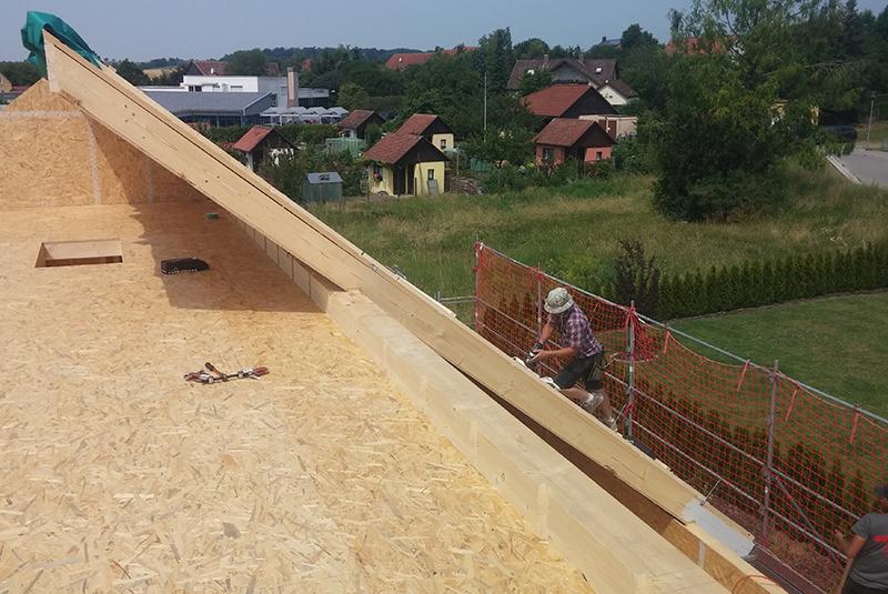 Holzhaus Dach