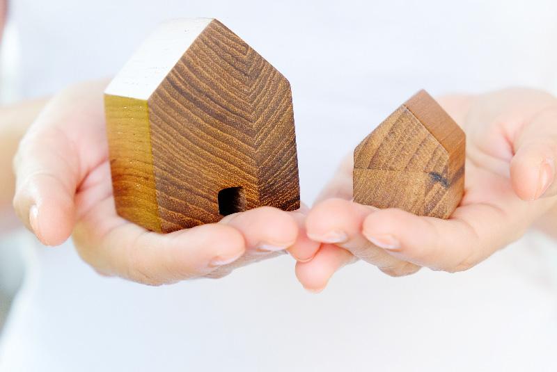 Holzhaus bauen und Fläche sparen