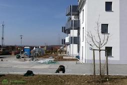 Außenanlagen werden angelegt