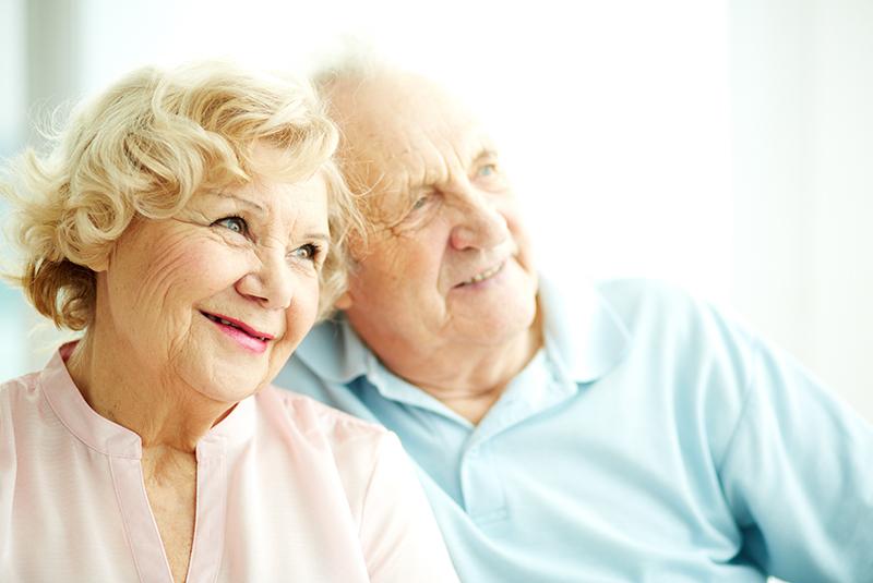 Senioren Paar Tagespflege