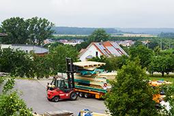 Viergeschossiger Holzbau Rothenburg Zimmerei Mohr