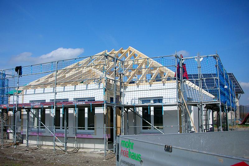 Baustelle Bungalow CLASSIC Baufortschritt MohrHolzhaus