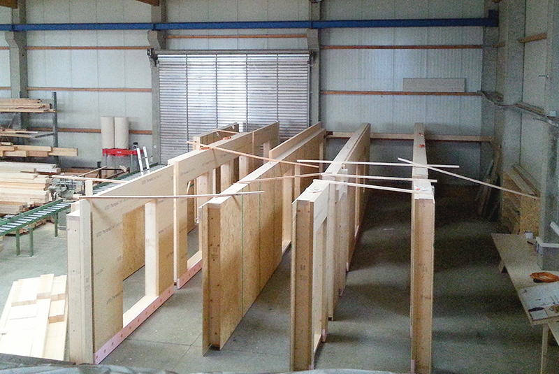Verfertigung im Holzrahmenbau