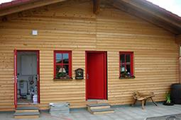 Xandy's Alm Biergarten MohrHolzhaus Holzhaus Fertighaus
