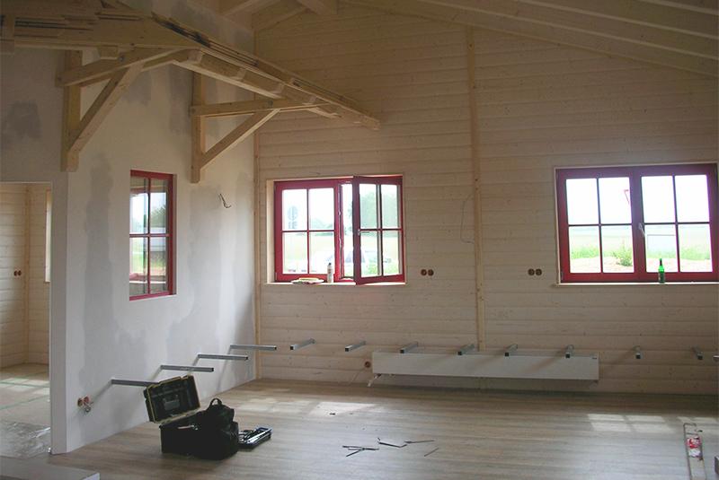 Neubau in Holzbauweise Biergarten Xandy's Alm