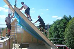 Fertighaus Holzbau Einfamilienhaus Bauchronik WORK & LIFE