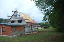 Holzbau Franken Zimmerei Mohr GmbH – Einfamilienhaus Bauchronik Wohnen und Arbeiten unter einem Dach