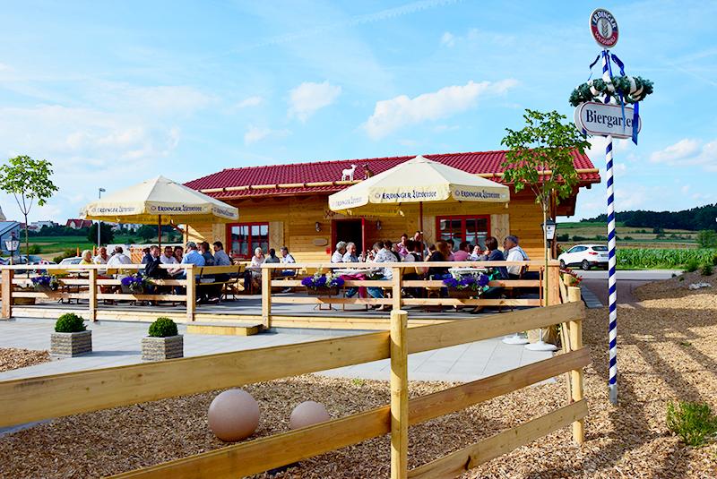 Neubau Biergarten Xandy's Alm in Muhr am See