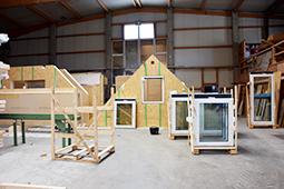 Bauchronik Einfamilienhaus WORK & LIFE – Ausbauhaus in Holzbauweise Wandelement Zimmerei Ansbach
