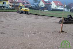 Bauplatz Tagespflege mit Bagger