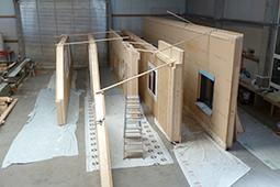 Wandelemente Holzhaus bauen Extension