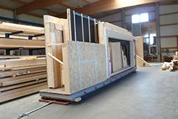 Transportfertige Wandelemente Holzbau